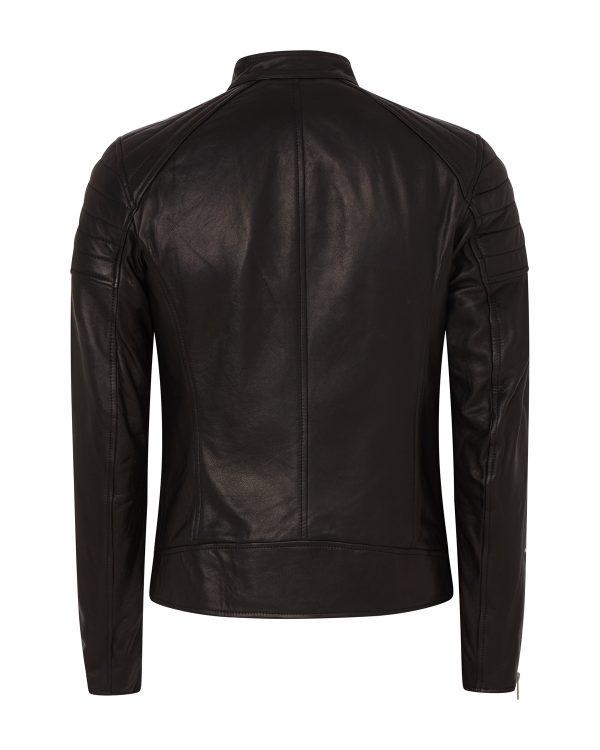 Belstaff Northcott Men's Tumbled Leather Jacket Black BACK