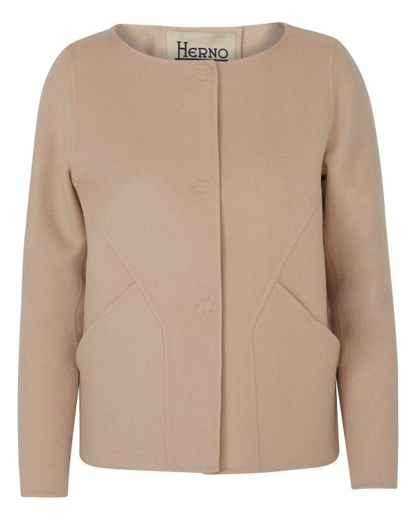 Herno Women's Cashmere Jacket Beige BACK