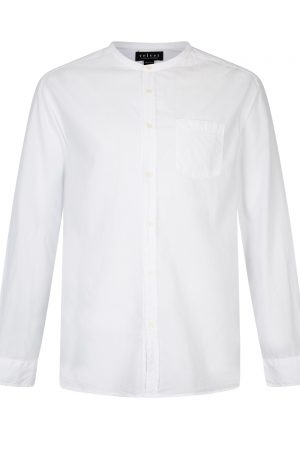 Velvet Men's Collarless Cotten Shirt White