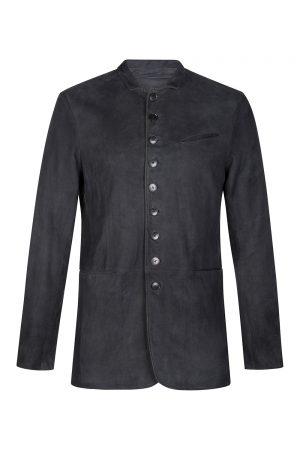 John Varvatos Men's Suede Jacket Grey