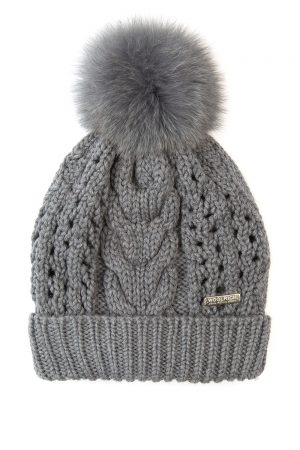 Woolrich Serenity Ladies Ribbed Knit Beanie Grey