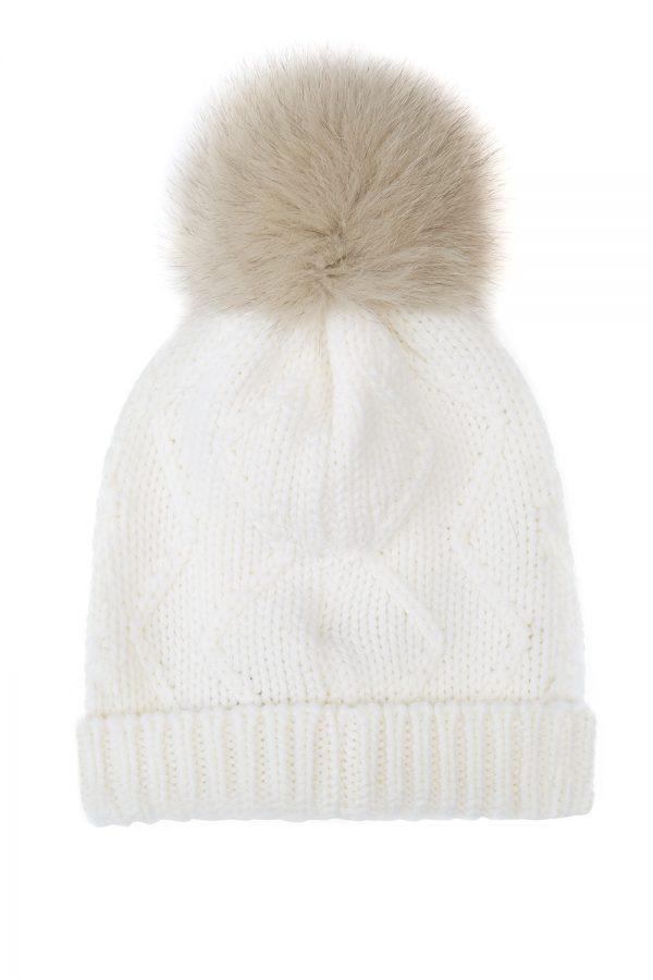 Woolrich Serenity Ladies Pom-pom Beanie White