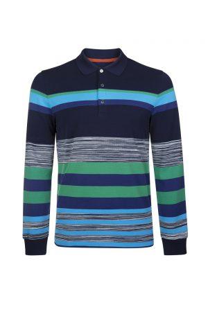 Missoni Men's Cotton Piqué Rugby Shirt Blue