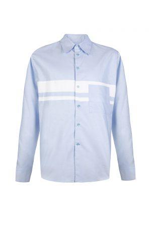 Marni Men's Colour Block Shirt Light Blue