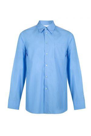 Marni Men's Classic 1 Pocket Shirt Blue