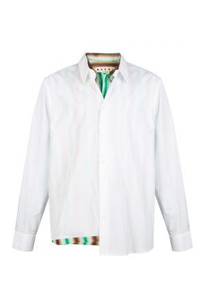 Marni Men's Double Layer Shirt White