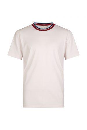 Marni Men's Striped collar T-shirt Pink