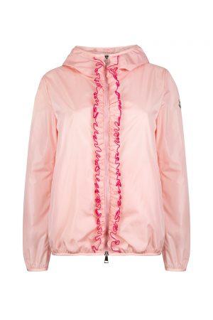 Moncler Vivre Women's Ruffle Trim Jacket Pink