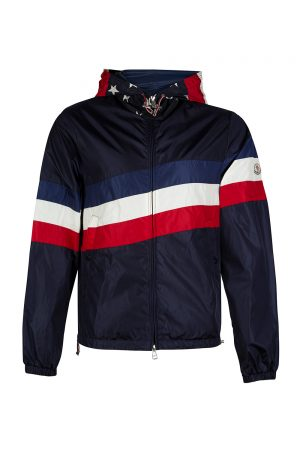 Moncler Cam Men's Hooded Nylon Jacket Navy