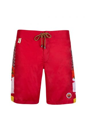 Missoni Mare Men's Patchwork Panel Swim Shorts Red