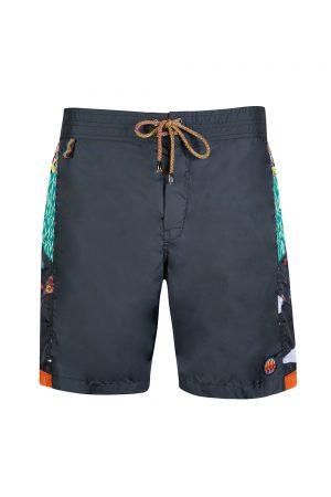 Missoni Mare Men's Side Patchwork Swim Shorts Navy
