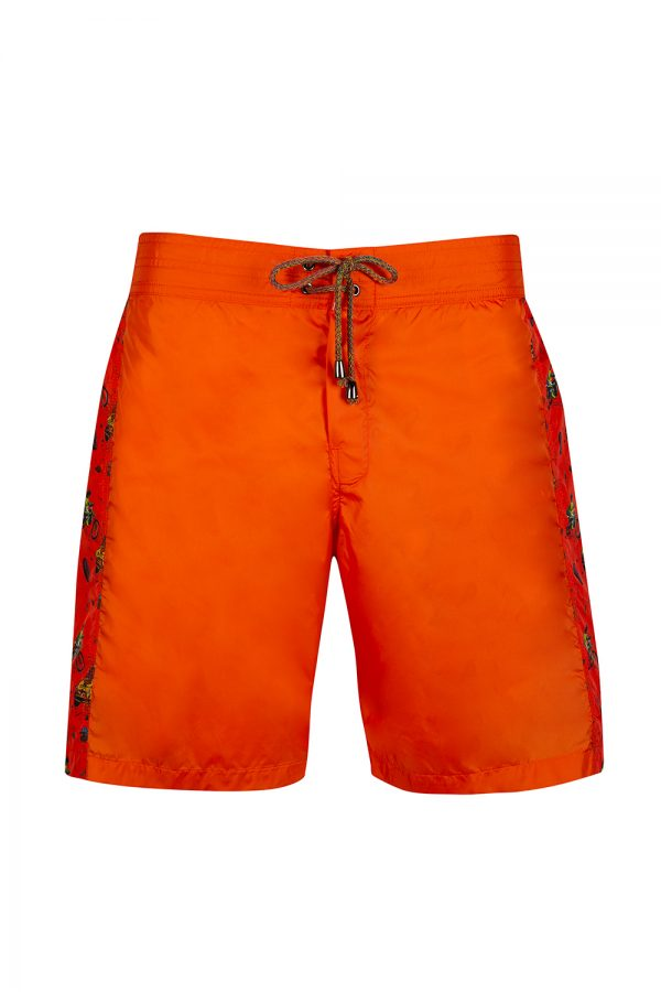 Missoni Mare Men's Illustrated Panel Swim Shorts Orange