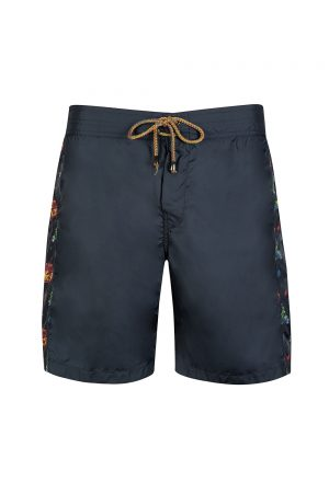 Missoni Men's Contrast Side Panel Swim Shorts Navy