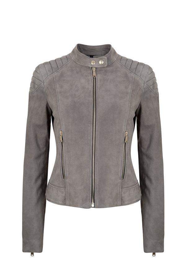Belstaff Mollison Women's Suede Jacket Grey