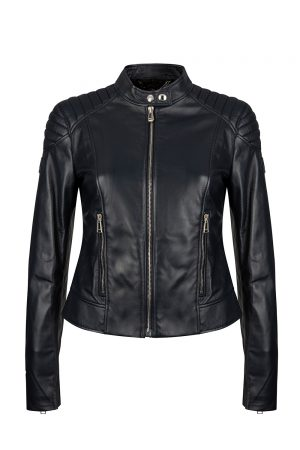 Belstaff Mollison Women's Nappa Leather Jacket Navy