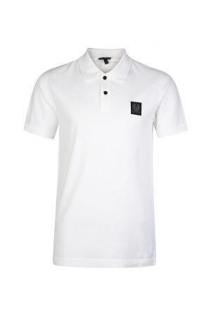Belstaff Stannet Men's Contrast Button Polo Shirt White