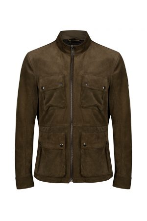 Belstaff New Brad Men's Suede Jacket Green