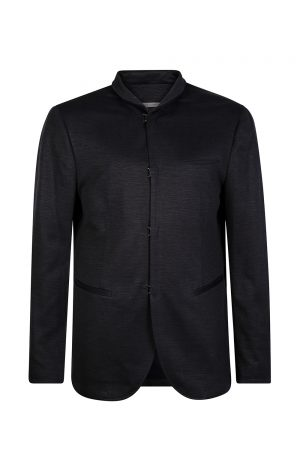 John Varvatos Men's Hook Front Jacket Navy