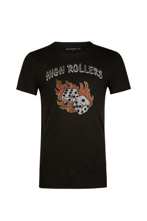 John Varvatos Men's High Rollers T-shirt Black