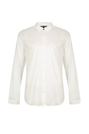 John Varvatos Men's Cotton Shirt White