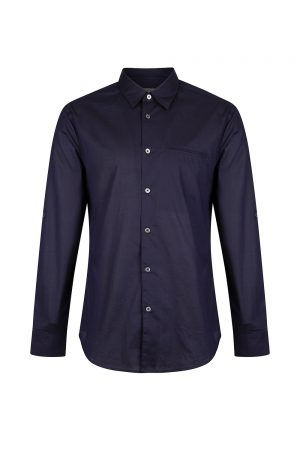 John Varvatos Men's Button Front Shirt Navy
