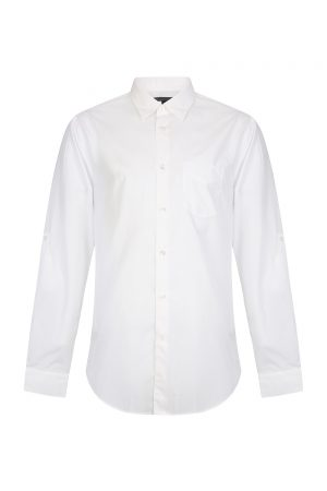 John Varvatos Men's Long-sleeved Cotton Shirt White