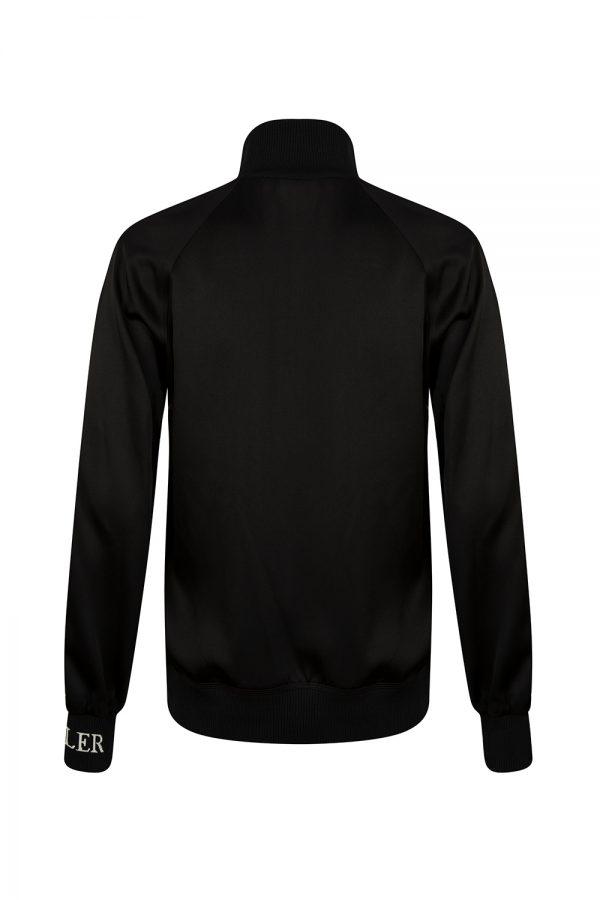 Moncler Women's Striped Sleeve Track Jacket Black