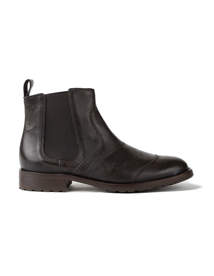 Belstaff Lancaster Men's Leather Biker Boots Black