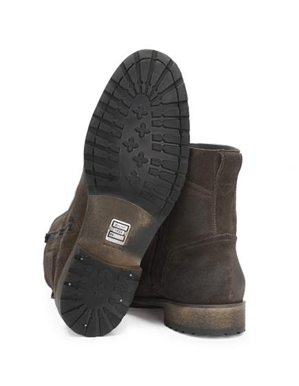 Belstaff Attwell Men's Suede Biker Boots Graphite
