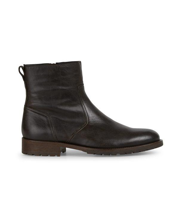 Belstaff Men's Attwell Short Leather Biker Boots Black