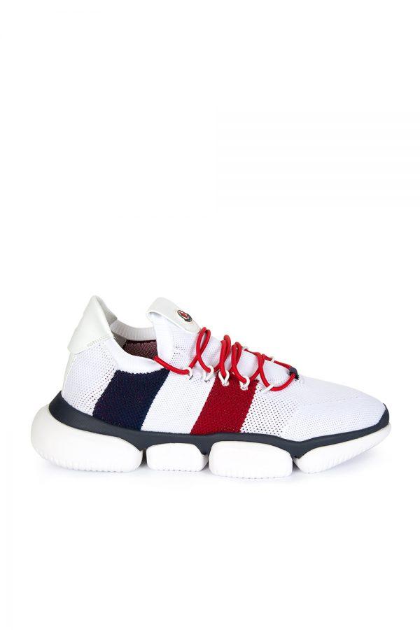 Moncler Bubble Men's Mesh Sneakers White