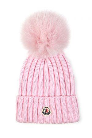 Moncler Women's Pom-pom Beanie Hat Pink