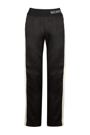 Moncler Women's Side Stripe Track Pants Black