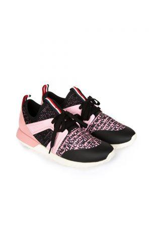 Moncler Meline Women's Logo Print Sneakers Pink