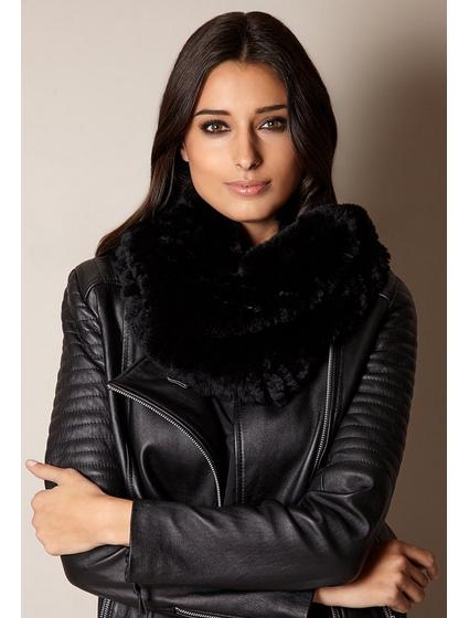 Mila Furs Zahara Ladies Snood Black