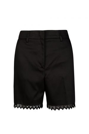 Blumarine Women's Applique Lace Hem Shorts Black