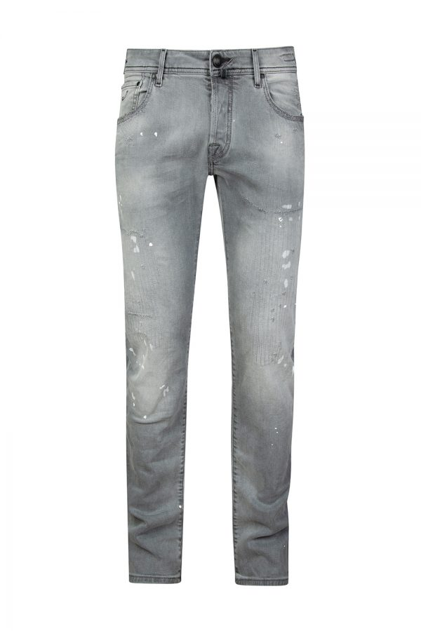 Jacob Cohën J622 Men's Distressed Slim-fit Jeans Grey