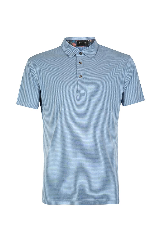 Sand Men S Striped Polo Shirt Blue Linea Fashion