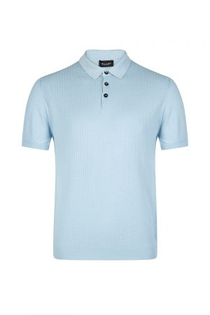 Sand Men's Contrast Panel Polo Shirt Blue