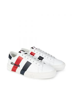 Moncler Montpellier Men's Leather Sneakers White
