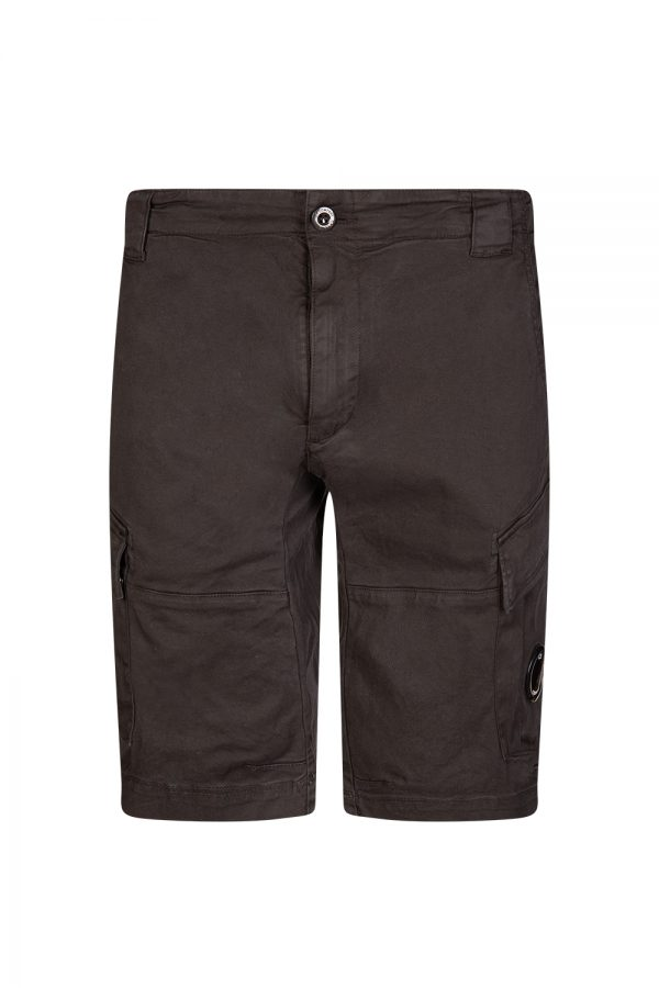 C.P. Company Men's Denim Cargo Shorts Black