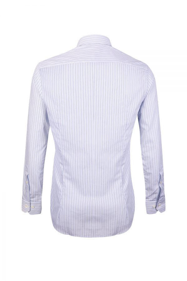 Pal Zileri Men's Thin Striped Shirt Blue