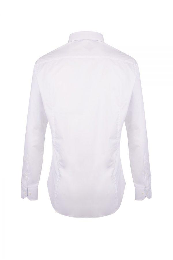 Pal Zileri Men's Contrast Inner Long-sleeved Shirt White