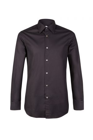 Pal Zileri Men's Stretch Cotton Shirt Black