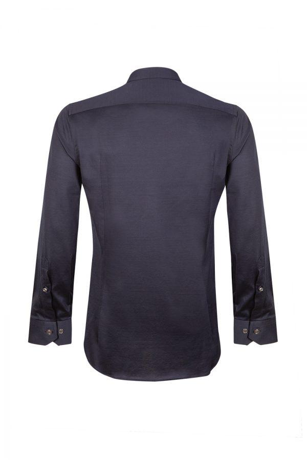 Pal Zileri Men's Long-sleeved Cotton Shirt Navy