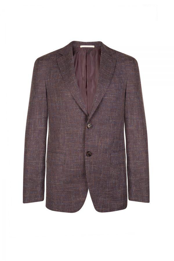 Pal Zileri Men's Linen-blend Wool Blazer Jacket Purple