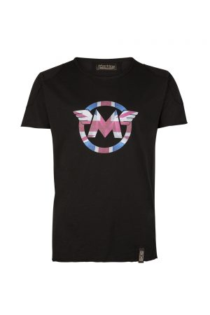 Matchless Men's Union Jack Logo Print T-shirt Black