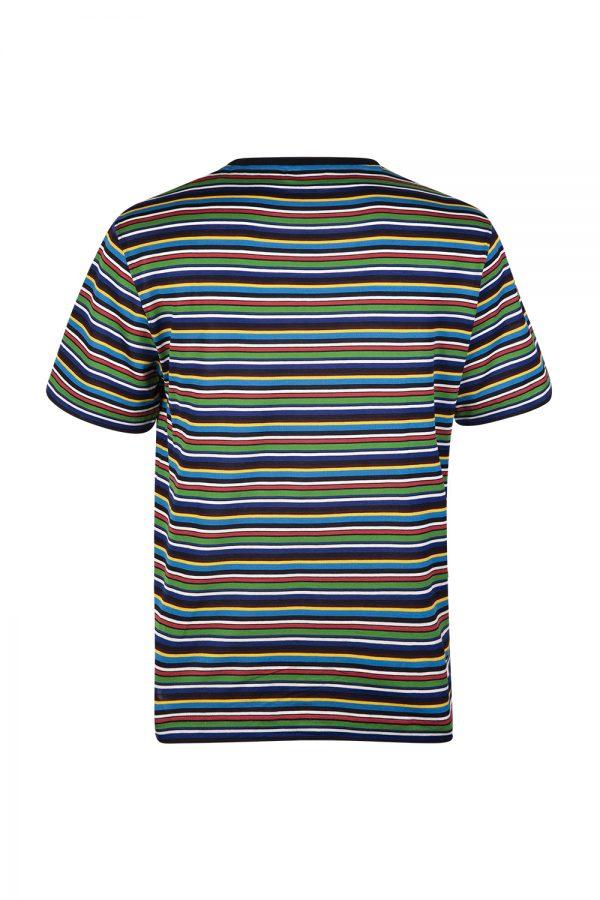 MissoniMen's Crew-neck Striped T-shirt Blue