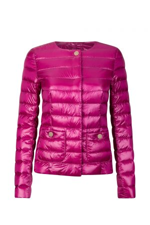 Herno Women's Collarless Light Down Jacket Pink