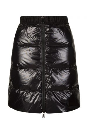 Moncler Gonna Women's Quilted Nylon Short Skirt Black